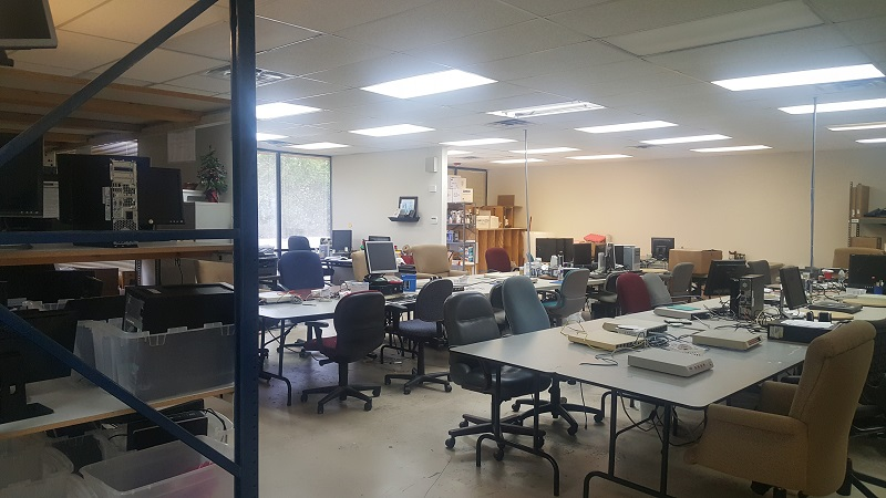 The Volunteers workstations at our Refurbishing Center in Richardson.