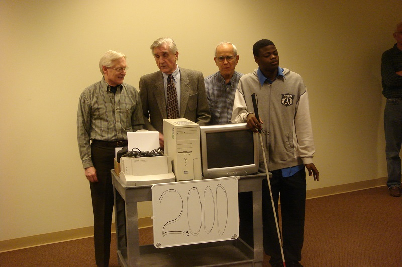 Gil, Bob and John present the 2000th computer