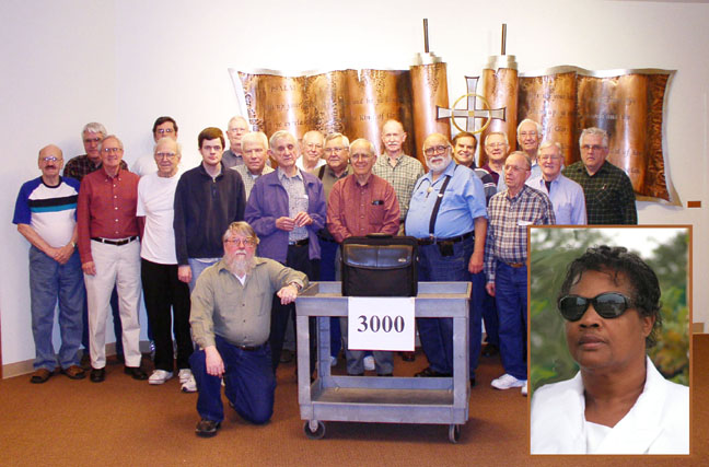 Our group of volunteers with the 3000th computer made.